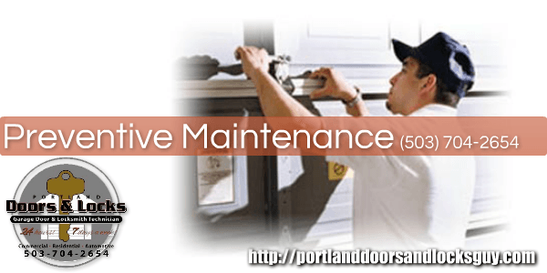 Garage Door Preventive Maintenance In Portland And