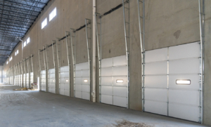 commercial high lift garage door